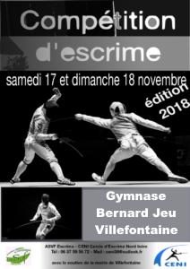Compétition d'escrime les 17 et 18 novembre à Villefontaine